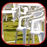 שילוב של כסאות לאוהלים